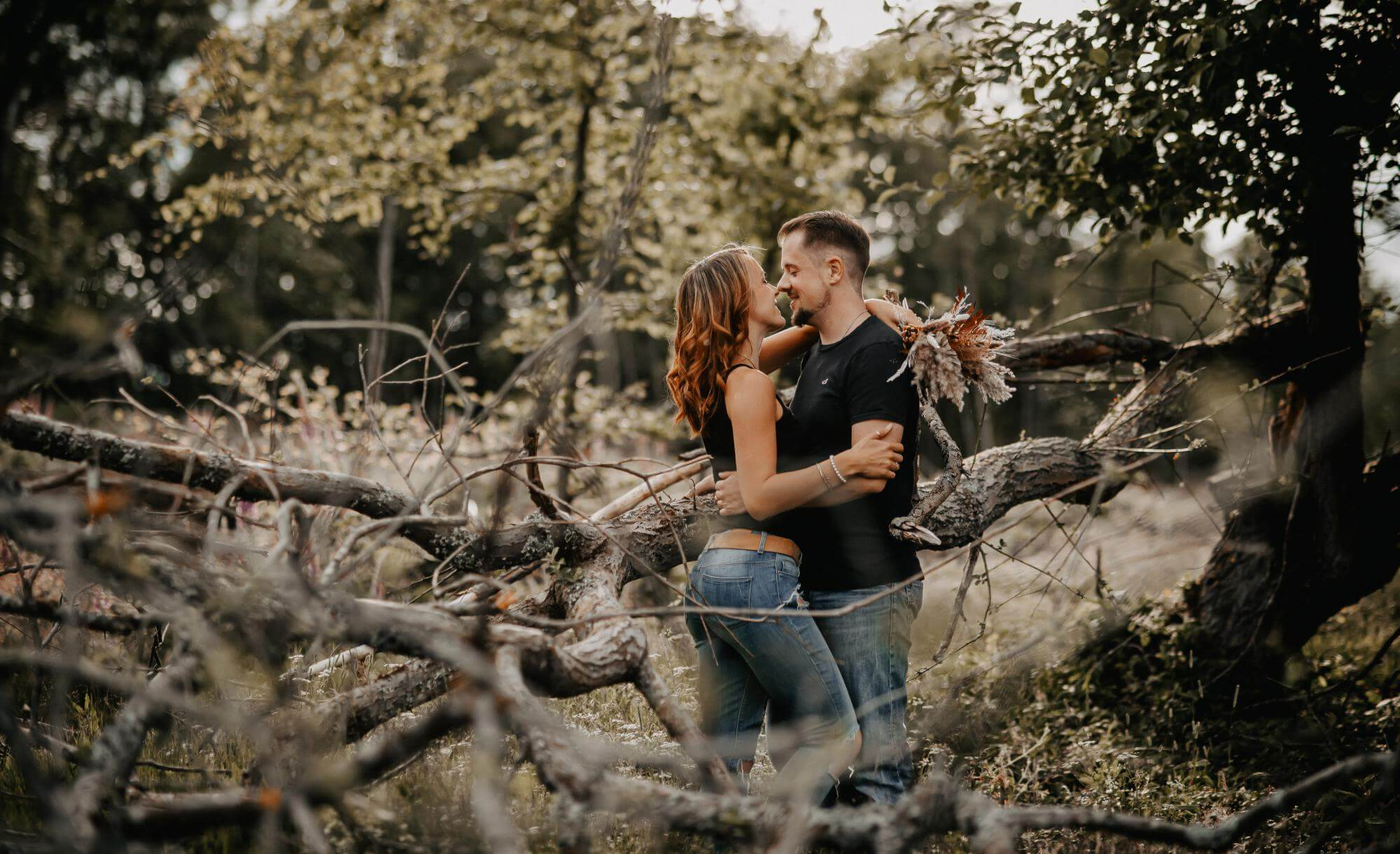 Paarshooting-Foto mit Details zu Paarshooting Forest und Couple